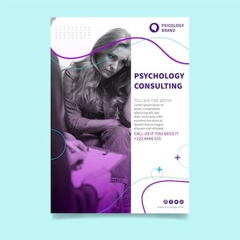 Vertikale flyer-vorlage für psychologieberatung