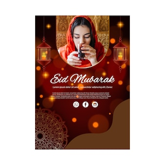 Vertikale flyer-vorlage für ramadan