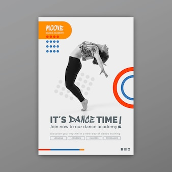 Vertikale flyer-vorlage für tanzklassen