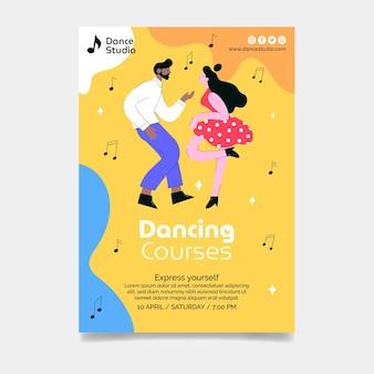 Vertikale flyer-vorlage für tanzkurse