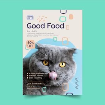 Vertikale flyer-vorlage für tierfutter