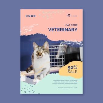 Vertikale flyer-vorlage für veterinärmedizin