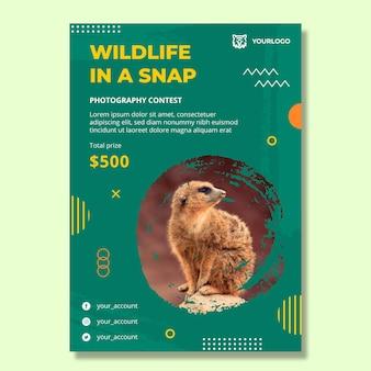 Vertikale flyer-vorlage für wilde natur