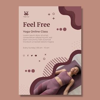 Vertikale flyer-vorlage für yoga zu hause
