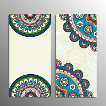 Vertikale mandala-banner