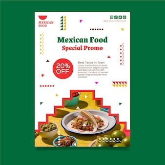 Vertikale mexikanische nahrungsmittelfliegerschablone