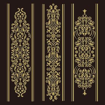 Vertikale ornamentdekoration