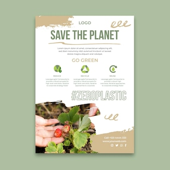 Vertikale plakatvorlage der umgebung