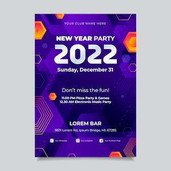 Vertikale plakatvorlage für das neue jahr mit farbverlauf