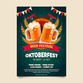 Vertikale plakatvorlage für das oktoberfest