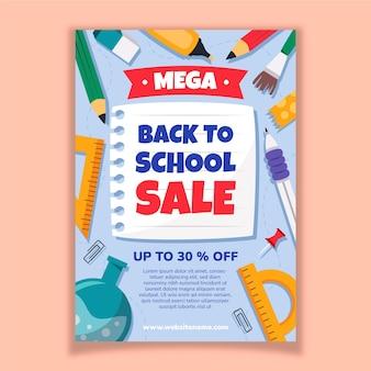 Vertikale plakatvorlage für den schulverkauf