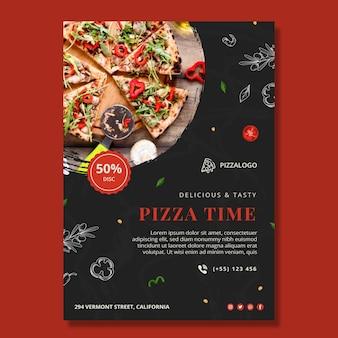 Vertikale plakatvorlage für italienisches essen