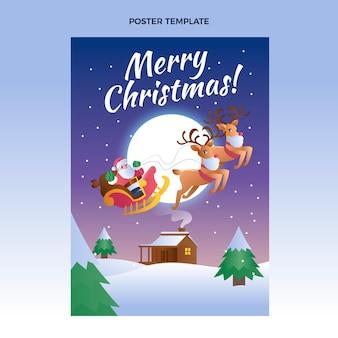 Vertikale plakatvorlage mit farbverlauf für weihnachten