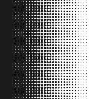 Vertikale punktierter nahtloser vektorhalbton