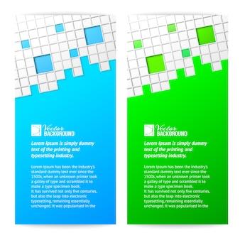 Vertikale quadratische karte