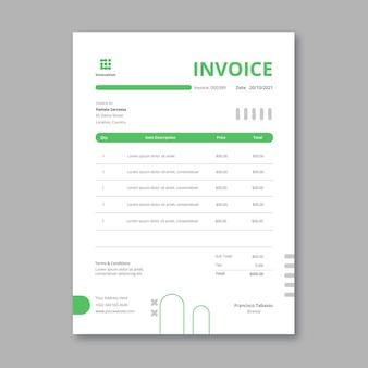 Vertikale rechnungsvorlage für marketingunternehmen