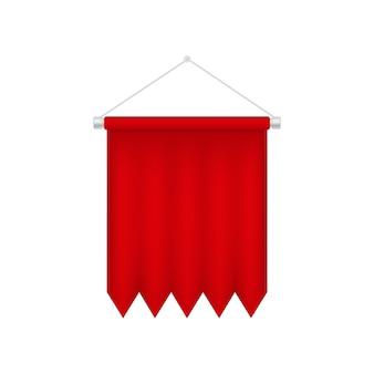 Vertikale rote wimpelschablone.