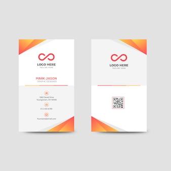 Vertikale unternehmensvisitenkarte vorlage