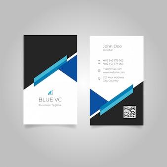 Vertikale vektorauszugsvisitenkarte