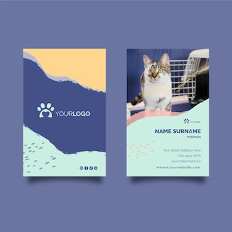 Vertikale visitenkarte des veterinärs
