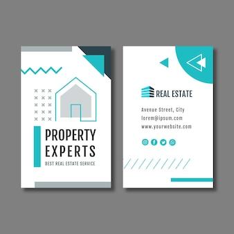 Vertikale visitenkarten-flyer-vorlage für immobilien