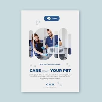 Vertikale vorlage für veterinärflieger