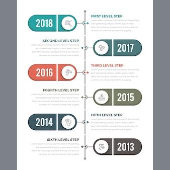 Vertikale zeitleiste infografiken