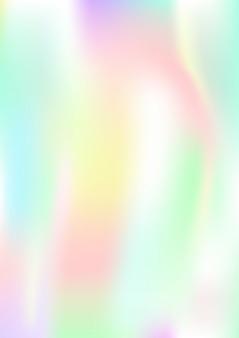 Vertikaler abstrakter hintergrund mit holographischem effekt. vektorillustration.