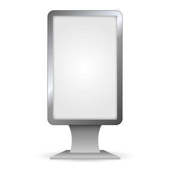 Vertikaler außen-lightbox. stadtmodell-format.