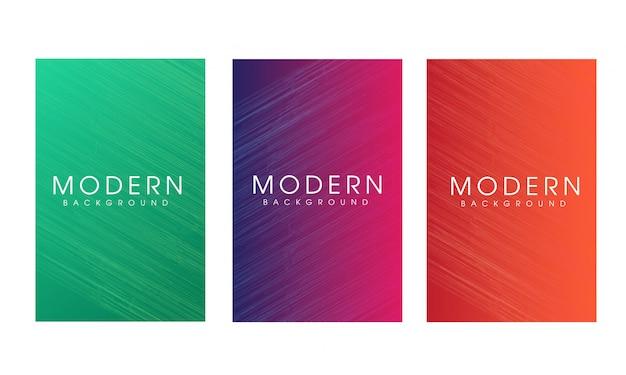 Vertikaler designsatz des abstrakten modernen hintergrundes