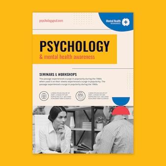 Vertikaler flyer der psychologie