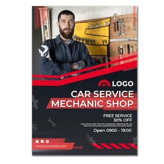Vertikaler flyer für mechaniker