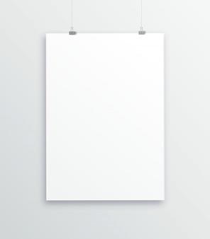 Vertikaler leerer bilderrahmen a3, a4 für fotos. vector realistische weiße bilderrahmungsmatte des papiers oder des plastiks mit breitem grenzschatten