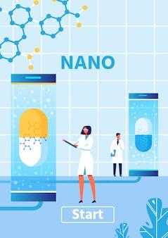 Vertikales banner für nano medical oder scientific lab