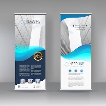 Vertikales banner stand template design