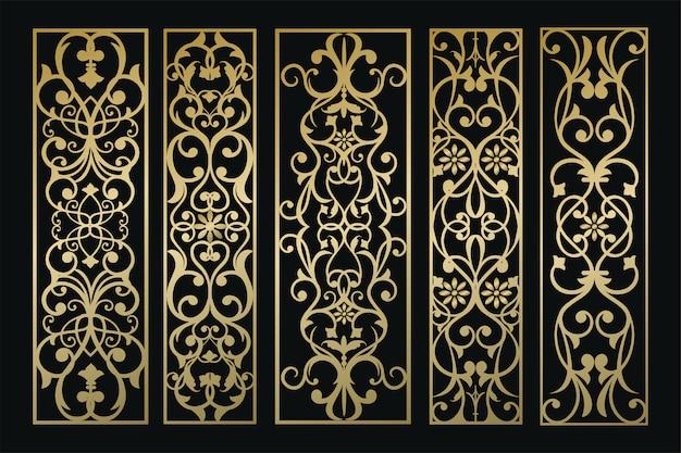 Vertikales dekoratives panel-ornament