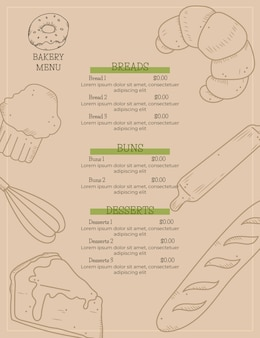 Vertikales digitales restaurantmenü