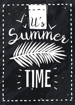 Vertikales poster der sommerferien