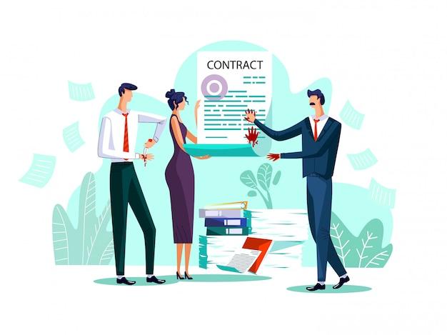 Vertragsabschluss konzept illustration