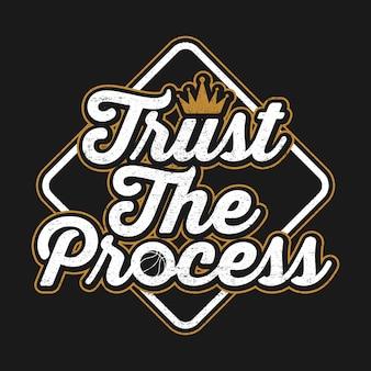 Vertrauen sie dem prozessangebot