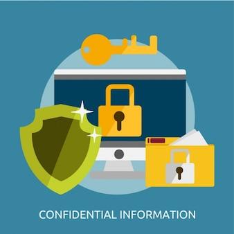 Vertrauliche informationen design