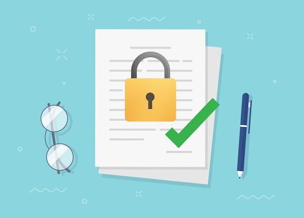 Vertraulichkeitsvereinbarung zur geheimhaltung Premium Vektoren