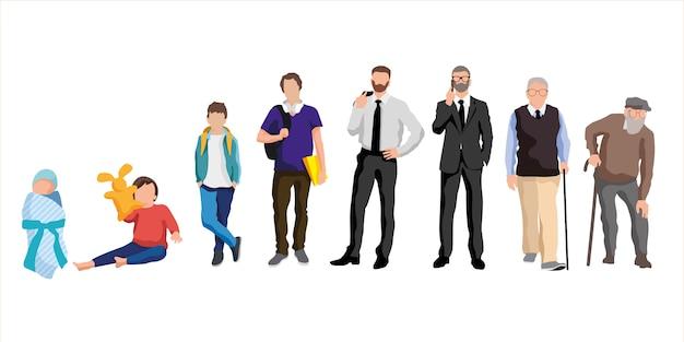 Verwaltung. charaktere des menschen in verschiedenen altersstufen