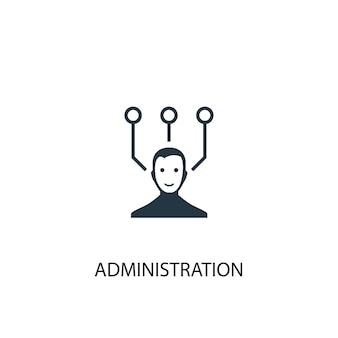 Verwaltungssymbol. einfache elementabbildung. verwaltungskonzept symboldesign. kann für web und mobile verwendet werden.