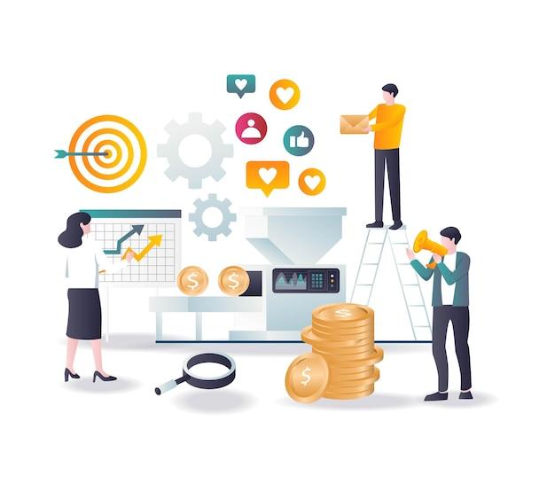 Verwandeln sie social media in werbemöglichkeiten und social media