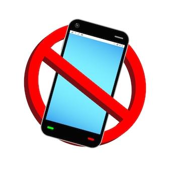 Verwenden sie kein smartphone verbotszeichen vektor