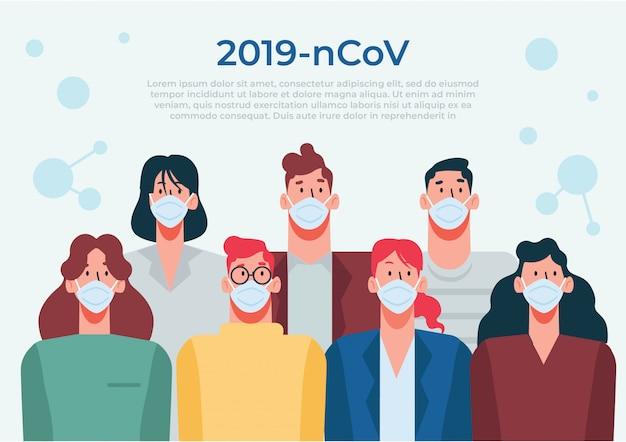 Verwenden sie zum schutz vor coronaviren eine medizinische maske
