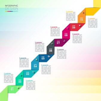 Verwendung moderner designvorlagen für infografiken.