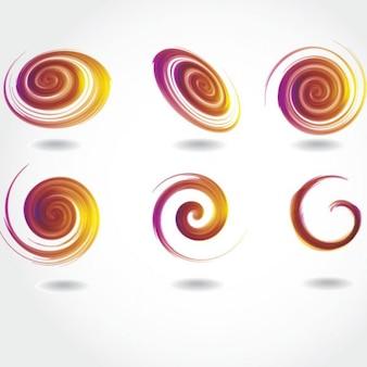 Verwirbelt transparentes design abstrakte vektor
