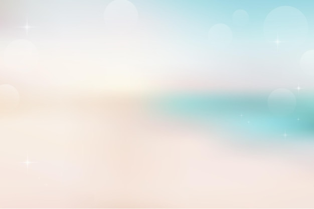 Verwischen sie den abstrakten hintergrund des strandes und des sandes mit bokeh-sonnenlicht für den sommer.